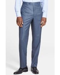 Pantaloni eleganti di lana blu