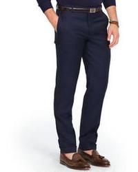 Pantaloni eleganti di lana blu scuro