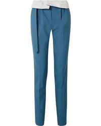 Pantaloni eleganti di lana blu di Gabriela Hearst