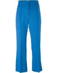 Pantaloni eleganti di lana blu di Marni