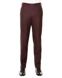 Pantaloni eleganti di lana bordeaux