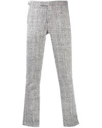 Pantaloni eleganti di lana grigi
