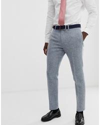 Pantaloni eleganti di lana grigi di ASOS DESIGN