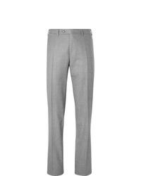 Pantaloni eleganti di lana grigi di Canali