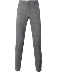 Pantaloni eleganti di lana grigi di Dondup