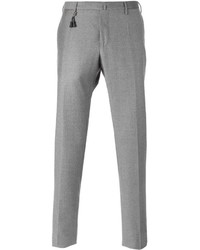 Pantaloni eleganti di lana grigi di Incotex