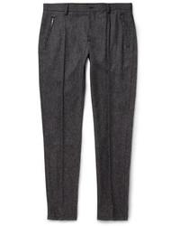 Pantaloni eleganti di lana grigio scuro