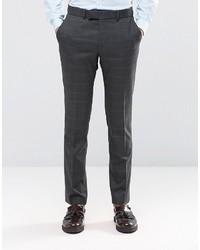 Pantaloni eleganti di lana grigio scuro di Ben Sherman