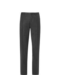 Pantaloni eleganti di lana grigio scuro di Canali