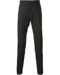 Pantaloni eleganti di lana grigio scuro di DSQUARED2