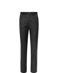 Pantaloni eleganti di lana grigio scuro di Ermenegildo Zegna