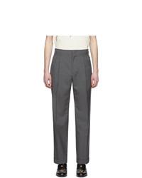 Pantaloni eleganti di lana grigio scuro di Gucci
