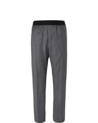 Pantaloni eleganti di lana grigio scuro di Helmut Lang