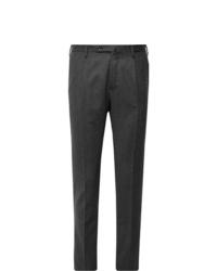 Pantaloni eleganti di lana grigio scuro di Incotex