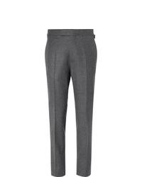 Pantaloni eleganti di lana grigio scuro di Kingsman