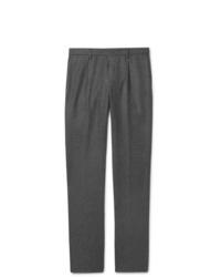 Pantaloni eleganti di lana grigio scuro di Loro Piana