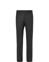 Pantaloni eleganti di lana grigio scuro di Mr P.