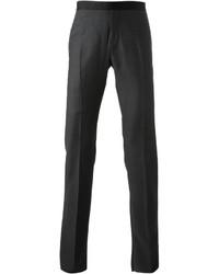 Pantaloni eleganti di lana grigio scuro di Neil Barrett