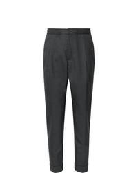 Pantaloni eleganti di lana grigio scuro di Officine Generale