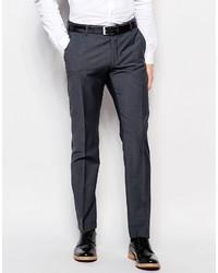 Pantaloni eleganti di lana grigio scuro di Selected