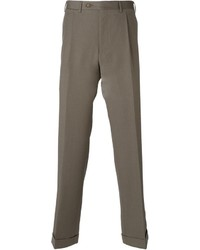 Pantaloni eleganti di lana marrone chiaro di Canali