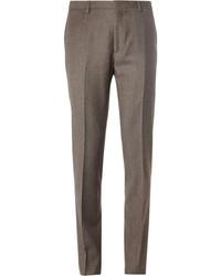 Pantaloni eleganti di lana marroni