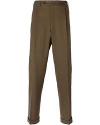 Pantaloni eleganti di lana marroni di Canali