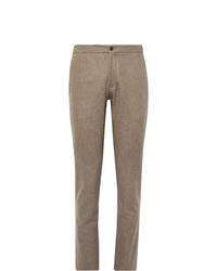 Pantaloni eleganti di lana marroni di Incotex
