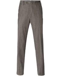 Pantaloni eleganti di lana marroni di Pt01