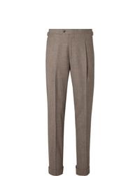 Pantaloni eleganti di lana marroni di Saman Amel