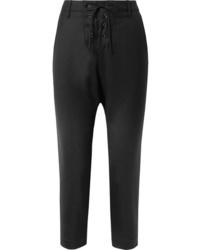 Pantaloni eleganti di lana neri di Nili Lotan