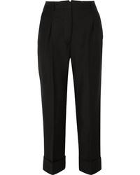 Pantaloni eleganti di lana neri di Prada