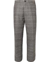 Pantaloni eleganti di lana scozzesi grigi