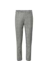 Pantaloni eleganti di lana scozzesi grigi di Incotex