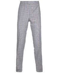 Pantaloni eleganti di lana scozzesi grigi di Paul & Joe