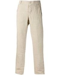 Pantaloni eleganti di lino beige