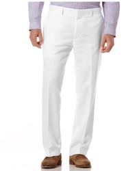 Pantaloni eleganti di lino bianchi