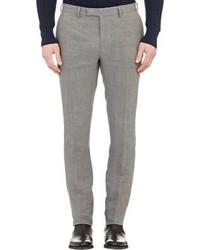 Pantaloni eleganti di lino grigi