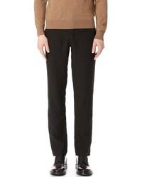 Pantaloni eleganti di lino neri