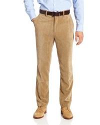 Pantaloni eleganti di velluto a coste marrone chiaro