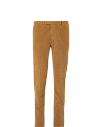 Pantaloni eleganti di velluto a coste marrone chiaro di Boglioli
