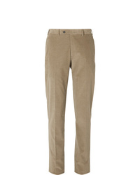 Pantaloni eleganti di velluto a coste marrone chiaro di Canali