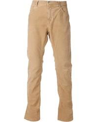 Pantaloni eleganti di velluto a coste marrone chiaro di Closed