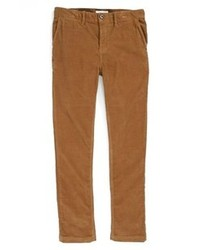 Pantaloni eleganti di velluto a coste marroni