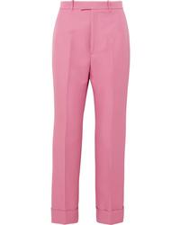 Pantaloni eleganti fucsia di Gucci