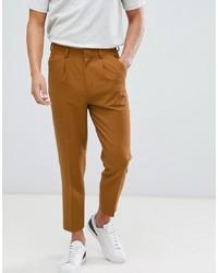 Pantaloni eleganti marrone chiaro di ASOS DESIGN