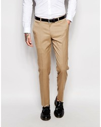 Pantaloni eleganti marrone chiaro di Asos