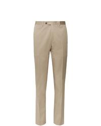 Pantaloni eleganti marrone chiaro di Canali