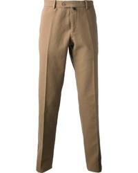 Pantaloni eleganti marrone chiaro di Caruso
