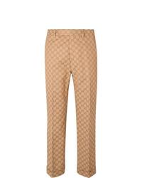 Pantaloni eleganti marrone chiaro di Gucci